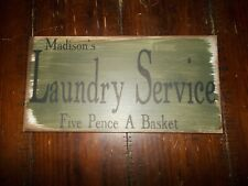 "6"" x 12"" Madison's Service Laundry  - Wall Decor Sign Plaque"