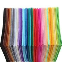 40pcs/Set Fabric 1mm Thickness Polyester Felt Bundle Home Decor Square Hot G9Z