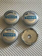 4x Volvo Wheel Centre Cap Hub Alloy New Center Cap 60mm 6Cm Silver/Blue