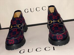 Gucci Men's Herald Bit Wool Loafers(9)