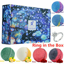 6pc Bath Bombs Natural Essential Oil Shower Ball Soap Finger Ring Gift in box
