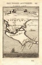 Tierra del fuego. cap horn. magellan strait. chili argentine. mallet 1683 carte
