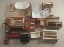 dolls house furniture budle - mixed dolls house items lot