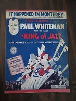 It Happened in Monterey 1930 Sheet Music Paul Whiteman from King Of Jazz