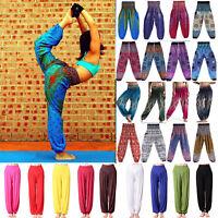 Women Gypsy Harem Loose Trousers Hippie Boho Sport High Elastic Waist Yoga Pants