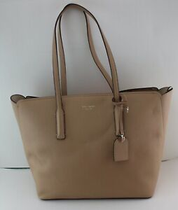 NEW AUTHENTIC KATE SPADE MARGAUX BEIGE LARGE TOTE HANDBAG PXRUA226 WOMEN'S