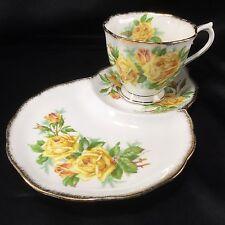 Royal Albert TEA ROSE Tennis Plate(s) Tea Cup Appetizer Snack Dessert One Handed