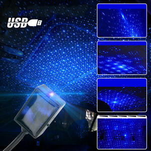 USB LED Atmosphere Star Sky Lamp Ambient Night Light Projector Car Accessories