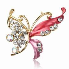 Rhinestone Butterfly Prom Enamel Gem Crystal Breastpin Pin Brooch Bouquet