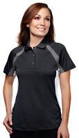 Tri Mountain Women's Raglan Sleeve Three Button Polyester Polo Shirt. 016