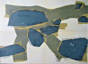 UBAC - GREAT ABSTRACTION  - ORIGINAL GIANT LITHOGRAPH - 1955 -  ONLY $ 59.99  !!