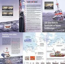 BRD 2015: Seenotretter Erinnerungsblatt mit Viererblock Nr. 3153 + Nr. 1465 1704