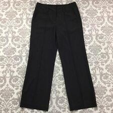 ABS Essentials Womens Pants sz 8 Black Pinstripe Stretch Straight Career Dress