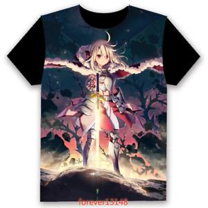 Anime Fate/kaleid liner prisma illya T-shirt Cosplay Unisex TEE Short Sleeve Top