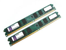 Kingston KVR800D2N6/2G 4GB (2x2GB Kit) PC2-6400 Low Profile DDR2 RAM Memory