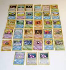 LOTTO 33/62 CARTE POKEMON TRADING CARDS GAME FOSSIL CON HOLO DITTO METAMORPH