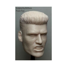 "Custom 1/6 Scale DOLPH LUNDGREN ""Ivan Drago"" ROCKY IV with spiked hair neckless"