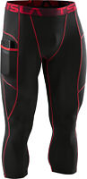 TSLA Men's 3/4 Compression Pants, Running Workout Cool Dry Capri Leggings