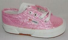 New Superga Pink Glitter Sparkle Textile Girls/Toddler Classic Sneakers 8 M