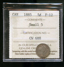 1885 Small 5 Canada 5 Cents ICCS Certified F12 DCB160