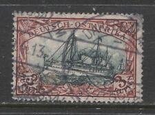 1908 German colonies EAST AFRICA  3 Rupien Yacht used, -DARESSALAM- signed