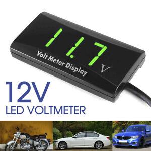 DC 12V LED Digital Monitor Volt Meter Display Battery Gauge Voltage Caravan/Car