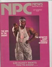 NPC NEWS bodybuilding muscle magazine/ 8x Mr Olympia LEE HANEY 9-89
