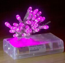 40 NEW PINK LED AA Battery Fairy Lights Great for Camping Tent Light Glamping