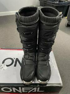 O'Neal Element Riding Boots Black/Grey Adult Size 10 0332-110