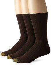 Gold Toe Men's Premium Canterbury Dress Crew Socks, Assorted Colors, 3 Pairs