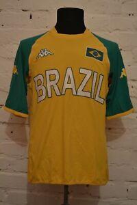 VINTAGE BRAZIL FOOTBALL SHIRT CAMISETA SOCCER JERSEY KAPPA MENS L