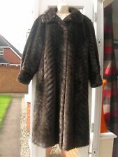 ELISE VINTAGE WOMEN'S FUR SYNTHETIC MADE IN AUSTRIA HIGH QUALITY EU 44 / UK 16
