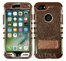 For Apple iPhone 7 & 7 Plus KoolKase Hybrid Silicone Cover Case - Clear Glitter