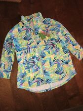 NWT Lilly Pulitzer Luxletic DEEDEE Swing Jacket in SERENITY NOW Size Medium