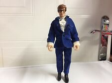 "Austin Powers 9"" Action Figure Trendmasters 1998 Blue Velvet Suit"