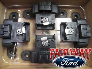 15 thru 20 F-150 OEM Genuine Ford Carbon Black Locking Bed Cleats 4-Piece Set