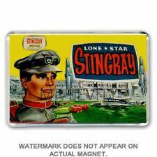 RETRO 60's LONE STAR- STINGRAY TOY GUN BOX ART JUMBO FRIDGE / LOCKER MAGNET