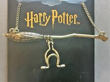 Officially Licensed Bioworld Harry Potter Nimbus 2000 Gold Necklace (Tracking)