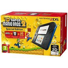 Nintendo 2DS 4GB Pack di Consola e Super Mario Bros 2 - Nera/Blu
