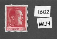 MLH Postage stamp / Adolph Hitler / 1938 Birthday / Third Reich / 1930s Germany