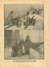 WWI Poilus Noël Quai aux Fleurs île de la Cité Paris France 1917 ILLUSTRATION