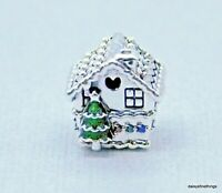 NEW/TAGS AUTHENTIC PANDORA CHARM GINGERBREAD HOUSE #798471C01  HINGE BOX