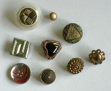 Vintage Fancy Metal Buttons - 9mm-30mm Diameter - 9 assorted in total