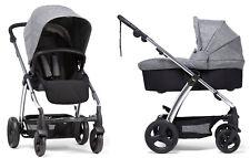 Mamas & Papas Sola 2 Stroller + Bassinet Grey Marl Brand New Free Shipping!