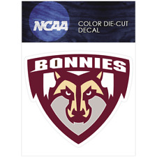 St. Bonaventure Bonnies Logo NCAA Die Cut Vinyl Car Sticker Bumper Window