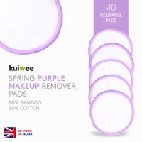 Reusable Bamboo Cotton Makeup Remover Pads - Purple Pads - Washable (PACK OF 10)