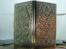 MINT Antique Victorian 800 Chased Silver Large CIGARETTE CASE Embossed Flower
