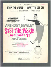 STOP THE WORLD Vocal Selections 1961 ANTHONY NEWLEY Sheet Music Book/Album/Folio