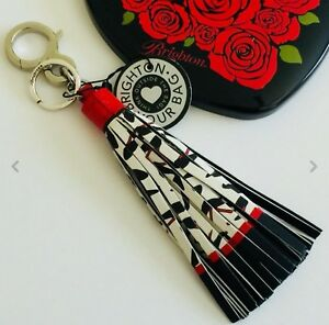 NWT Brighton PUMP IT UP Multi Leather Handbag Tassel Fob/Keychain $50