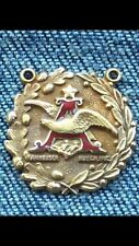VINTAGE ANHEUSER BUSCH Budweiser 10K Yellow GOLD Pendant Necklace Charm